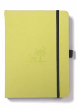 Bild på Dingbats* Earth A5+ Lime Yasuni Notebook - Dotted