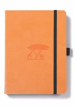 Bild på Dingbats* Earth A5+ Tangerine Serengeti Notebook - Dotted