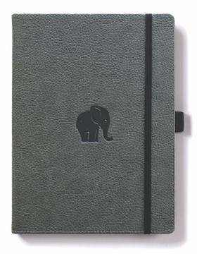 Bild på Dingbats* Wildlife A4+ Grey Elephant Notebook - Dotted