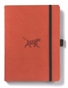 Bild på Dingbats* Wildlife A5+ Orange Tiger Notebook - Dotted