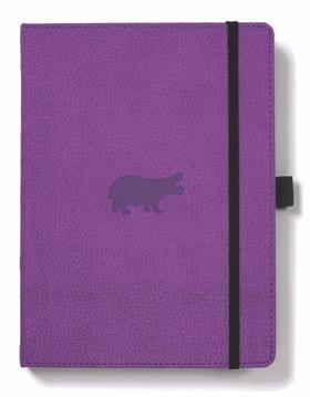 Bild på Dingbats* Wildlife A5+ Purple Hippo Notebook - Dotted