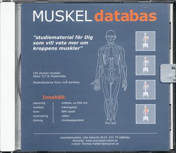 Bild på Muskeldatabas : studiematerial för dig som vill veta mer om kroppens muskler