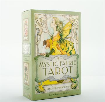 Bild på Mystic Faerie Tarot (78-Cards, Book & Organdy Bag With Satin