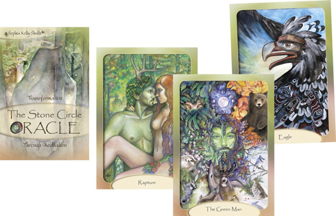 Bild på The Stone Circle Oracle (Boxed set with book + 45 cards) : Transformation Through Meditation