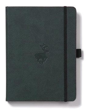 Bild på Dingbats* Wildlife A5+ Green Deer Notebook - Graph