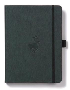 Bild på Dingbats* Wildlife A5+ Green Deer Notebook - Plain