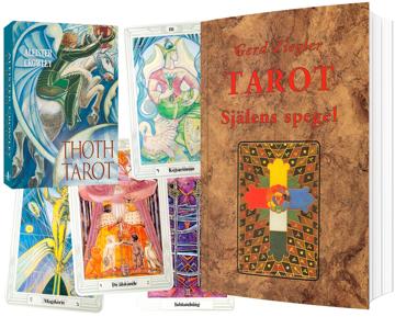 Tarotpaket: Själens spegel bok + Thoth Tarotlek svensk lek