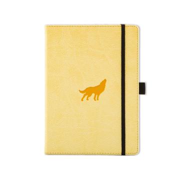 Bild på Dingbats* Wildlife A5+ Cream Wolf Notebook – Plain