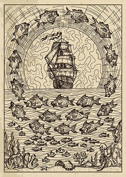 Bild på Lenormand Engraved Fish (50x70)