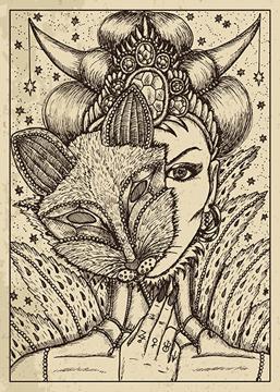 Bild på Lenormand Engraved Fox (50x70)